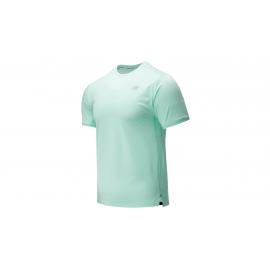 Camiseta running New Balance Impact Run SS verde hombre