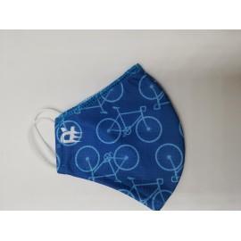 Mascarilla deportiva MSP03 Bicis azul