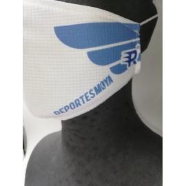 Mascarilla deportiva Deportes Moya reutilizable blanco/azul