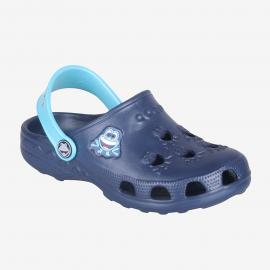 Zuecos Coqui Little Frog azul niño