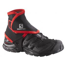 Polainas trail running Salomon Gaiters High negro rojo