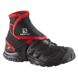 Polainas trail running Salomon Gaiters High negro/rojo