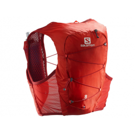 Mochila trail running Salomon Active Skin 8 Set rojo