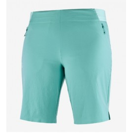 Pantalón outdoor Salomon Wayfarer Pull On azul agua mujer