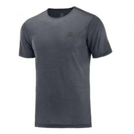 Camiseta senderismo Salomon Cosmic Crew Ss Tee gris hombre