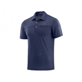 Polo outdoor Salomon Explore azul hombre