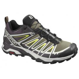 Zapatillas trekking Salomon X Ultra 3 verde/gris hombre