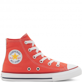 Botas Converse All Star Hi naranja niño