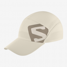 Gorra trail running Salomon Cap Xa beige