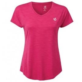 Camiseta fitness Vigilant Dare 2b rosa mujer