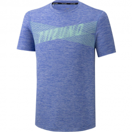 Camiseta running Mizuno Core Graphic Tee azul hombre