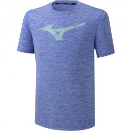 Camiseta running Mizuno RB Graphic Tee azul hombre