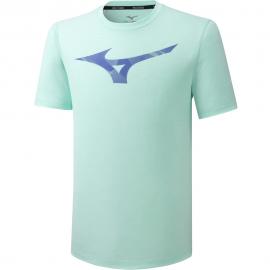 Camiseta running Mizuno RB Graphic Tee verde hombre