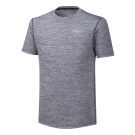 Camiseta running Mizuno Impulse Core Tee gris hombre