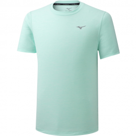 Camiseta running Mizuno Impulse Core Tee verde hombre