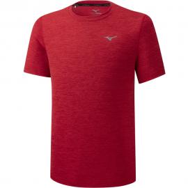 Camiseta running Mizuno Impulse Core Tee rojo hombre