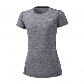 Camiseta running Mizuno Impulse Core Tee gris mujer