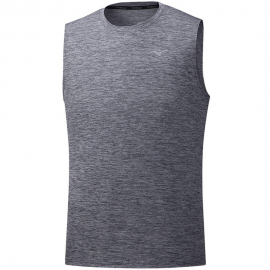 Camiseta running Mizuno Impulse Core Sleeveless gris hombre