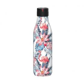 Botella Les Artistes Bottle Up 280ml hojas y flamencos
