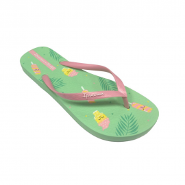 Chanclas Ipanema +Mr. Wonderful verde/rosa mujer