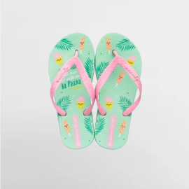 Chanclas Ipanema +Mr. Wonderful verde/rosa niña