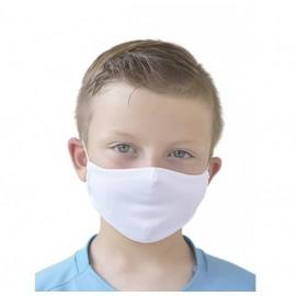 Mascarilla protector reutilizable con filtro blanca infanti