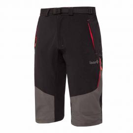 Pantalón trekking Izas Ospika negro/gris/rojo hombre