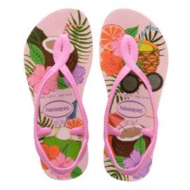 Sandalias Havaianas Luna Print Cristal rosa/tropical niña