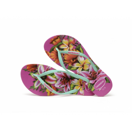 Chanclas Havaianas Slim Floral Hollywood rosa mujer