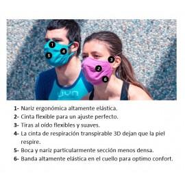 Mascarilla protectora reutilizable UYN Community Blanco Niñ@