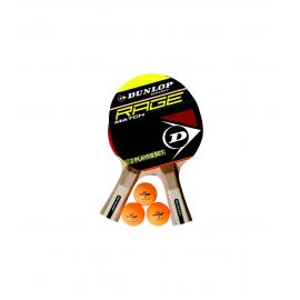 Set Ping Pong Dunlop Rage Match palas + pelotas