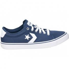 Zapatillas Converse All Star Replay Ox azul/blanco junior