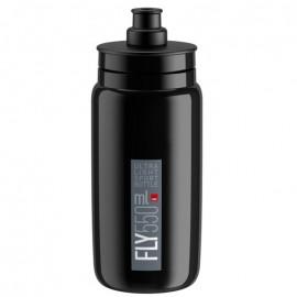 Bidon Elite Fly negro logo gris 550 ml