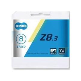 Cadena Kmc Z8.3 plata/gris 114 eslabones 8 velocidades.