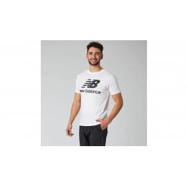 Camiseta New Balance Essentials Stacked  blanco/negro hombre