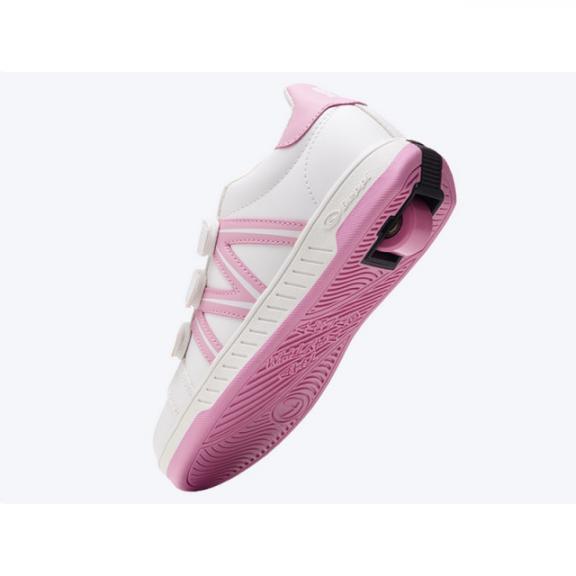 Zapatillas con ruedas Beppy 2176221 velcro blanco/rosa niña