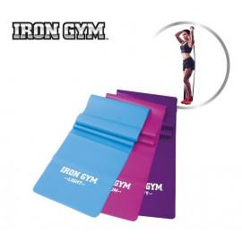 Bandas elasticas Iron Gym azul/fuscia/morada unisex