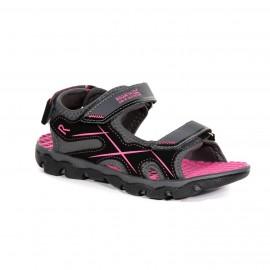 Sandalias trekking Regatta Kota Drift gris/rosa junior