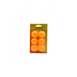 Pack 6 pelotas ping  pong  softee naranja