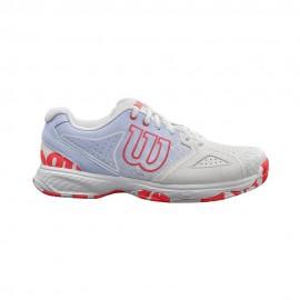 Zapatilla tenis/pádel Wilson Kaos Devo blanca/roja mujer
