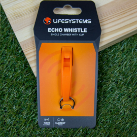Silbato emergencia Lifesystems Echo Whistle naranja
