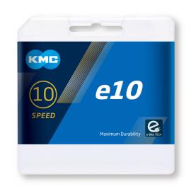 Cadena Kmc E10 plata Electrica 122 eslabones 10 velocidades