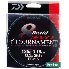 Trenzado EVO Tournament 8 Braid 0,16mm.-135m.