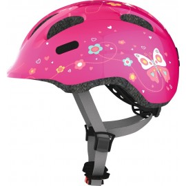 Casco Abus Smiley 2.0 rosa butterfly infantil