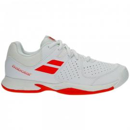 Zapatilla tenis Babolat Pulsion All Court blanca/roja junior