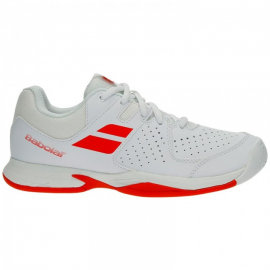Zapatilla tenis Babolat Pulsion All Court blanca/roja niño