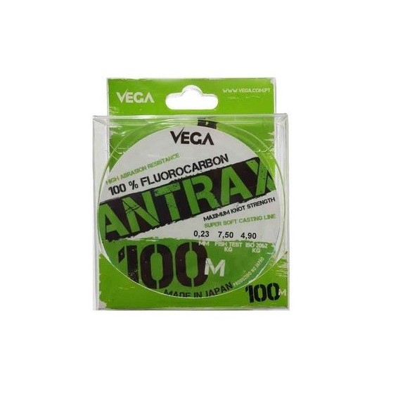 Fluorocarbono Vega Antrax 100m 0.25mm