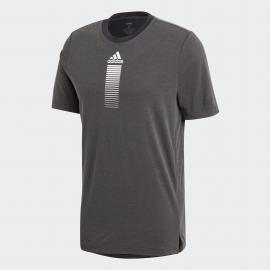 Camiseta adidas Activated Tech gris oscuro hombre