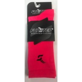 Calcetines altos FunStep Essencial rosa fluor