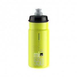 Bidon Elite Jet amarillo fluo logo negro 550 ml